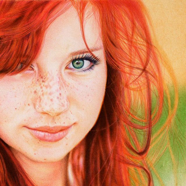 This is Not a Photograph: Amazing Portrait Drawn with Ballpoint Pens by Samuel Silva portraits photo realism drawing