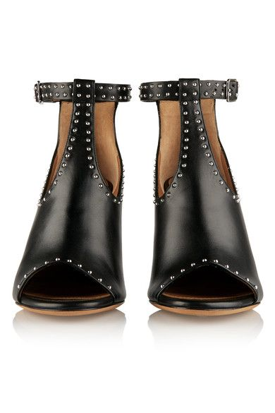 Givenchy - Studded Ankle Boots In Black Leather - IT37.5