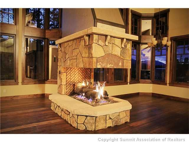 56 best 3 sided fireplace images on Pinterest | Fireplace design ...