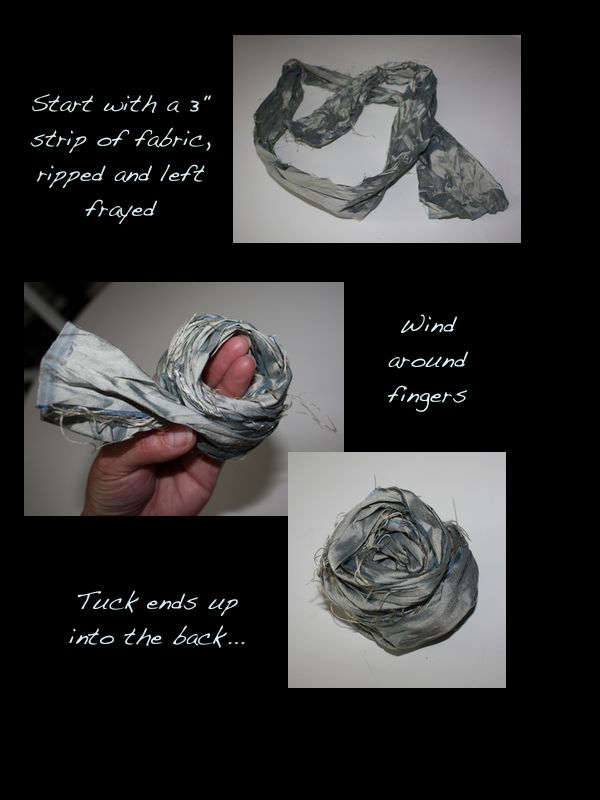 Tutorial, how to make fabric roses out of scrap fabric. from A Button Tufted Life... http://cynthiaweber.com/easy-fabric-rose-tutorial/