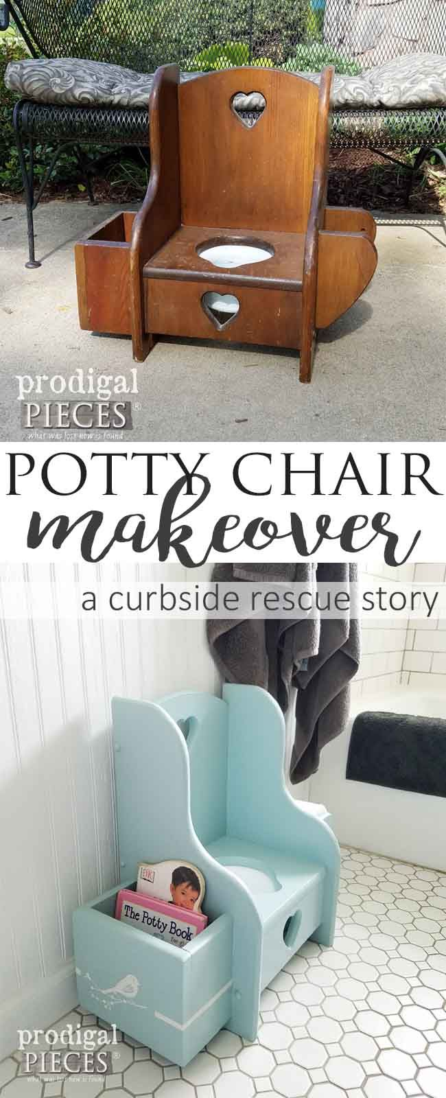 Antique potty chair value - Potty Chair Makeover Talking Toddler Style