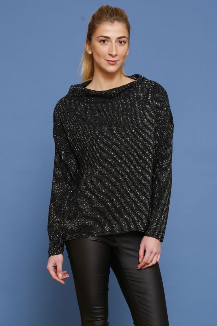 Stylowa bluza z półgolfem - adrianex mix