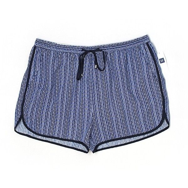 Gap Outlet Shorts ($13) ❤ liked on Polyvore featuring shorts, blue, gap shorts, blue shorts and rayon shorts