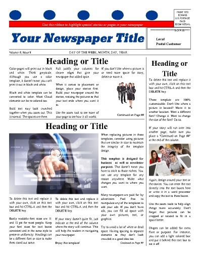 Best Personal General Newspaper Templates Images On