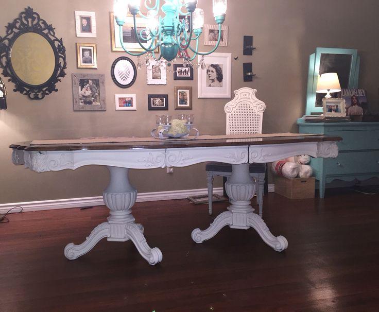 Chalk paint antique table
