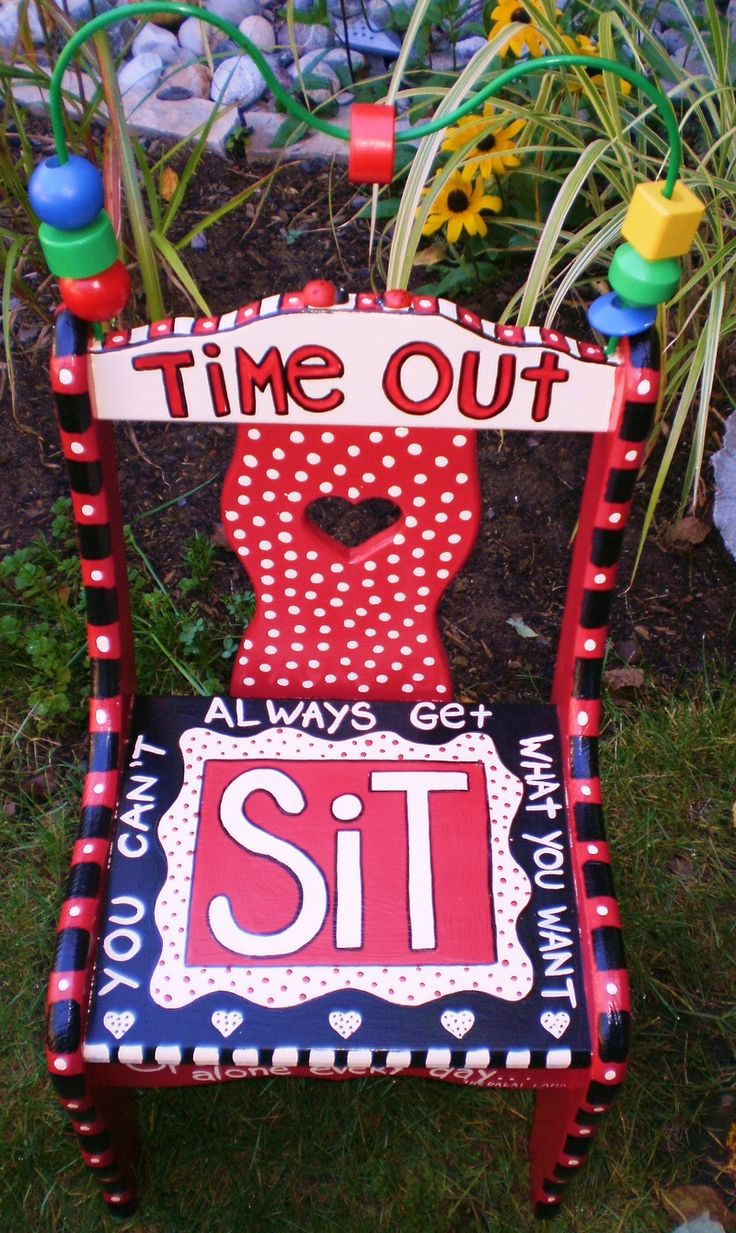 Diy make your own sand filled time out stool diy craft projects - Sit Time Out Chair Joeholtslag Cindy Little Read What Is Written Around The