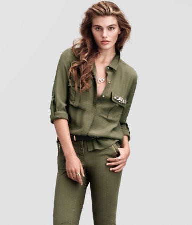 H Olive Green Shirt