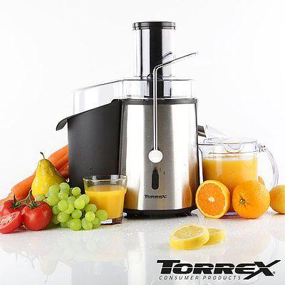 Entsafter aus Edelstahl / Saftpresse 850 Watt elektrisch / Obstpresse Fruchtsaft