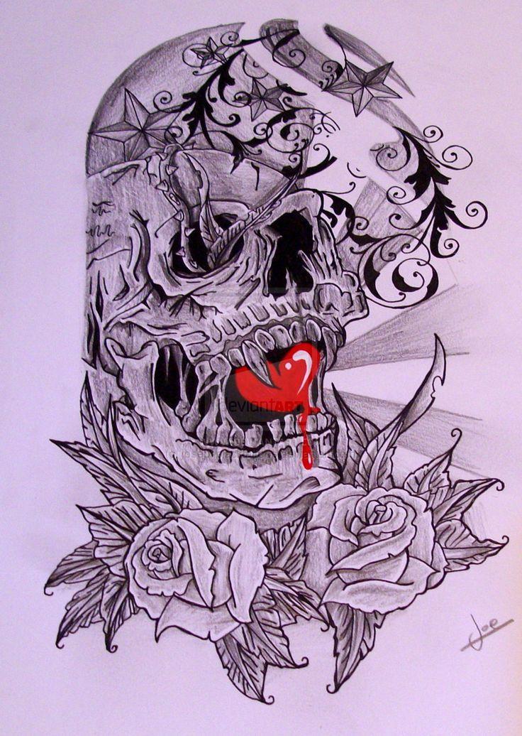 ... Skulls Tattoo Ideas Rose Half Sleeves Skull Sleeve Tattoos Half