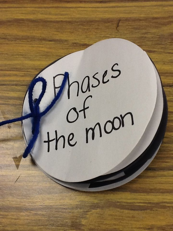 Phases of the moon book w black and white paper