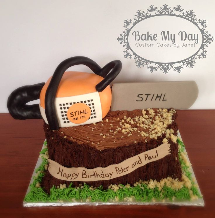 Stihl Cake For The Love Of Stihl Cake Custom Cakes