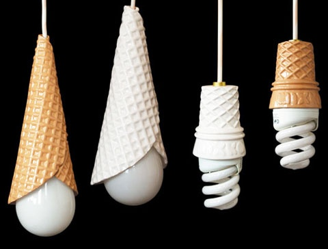 """Cone Lamps for my """"gelateria""""!"""
