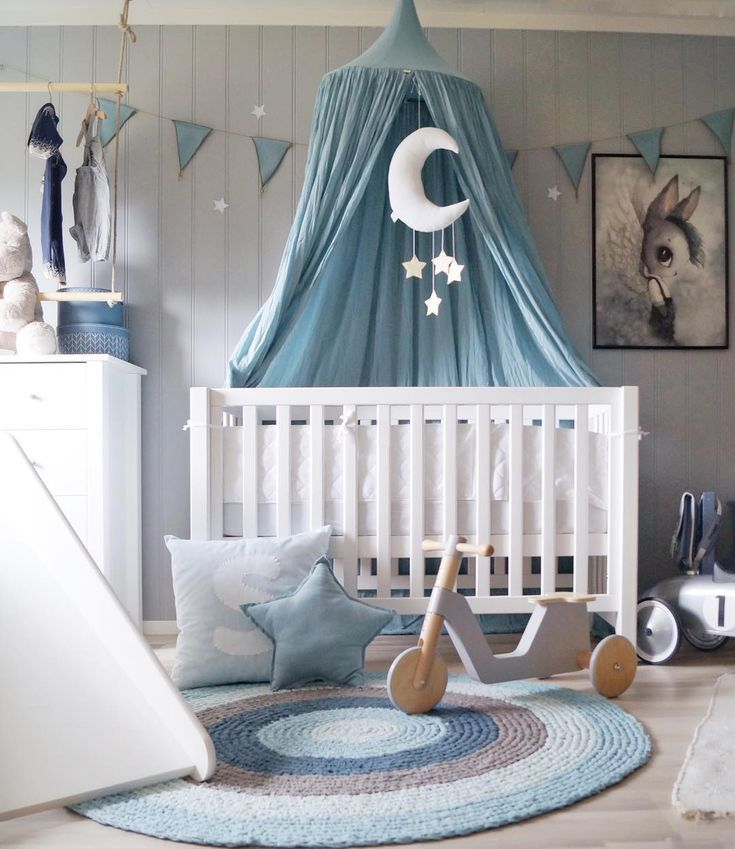 Beautiful Blue Crib Canopy