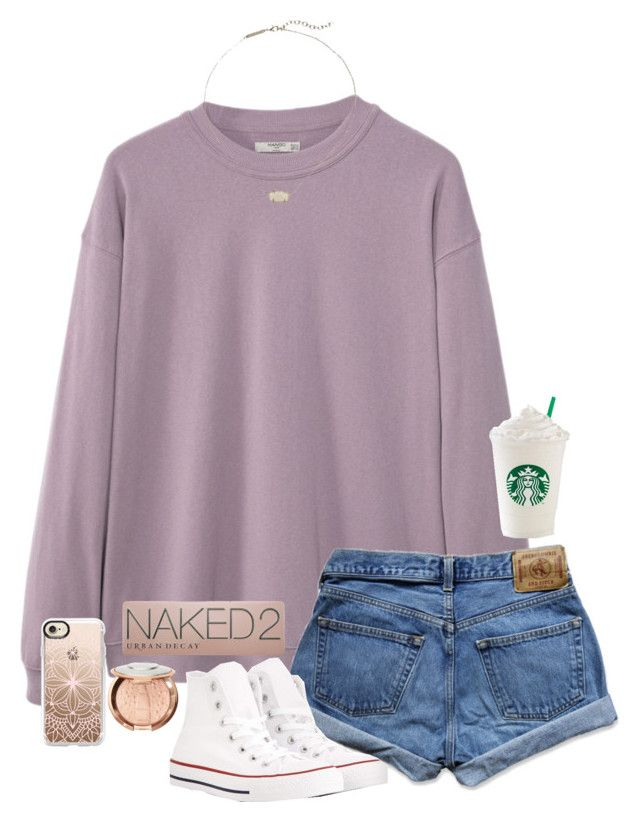"""adventure awaits"" by gabyleoni on Polyvore featuring MANGO MAN, Abercrombie & Fitch, Converse, Kendra Scott, Sephora Collection, Casetify and Urban Decay"
