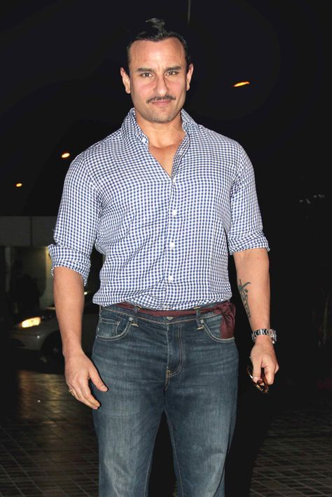 Saif Ali Khan at Sajid Khan's birthday bash. #Bollywood #Fashion #Style…