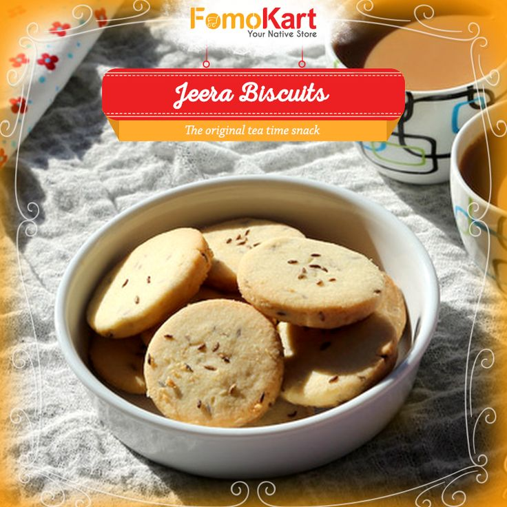 The basic necessity for all #tea lovers. Order this all time favourite #Jeera #Biscuit at http://tinyurl.com/h47vbrk  #snacks #teatime #fomokart