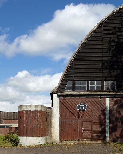 cowshed, gut garkau farm, germany, 1923-1926. architect: hugo häring, 1882-1958.