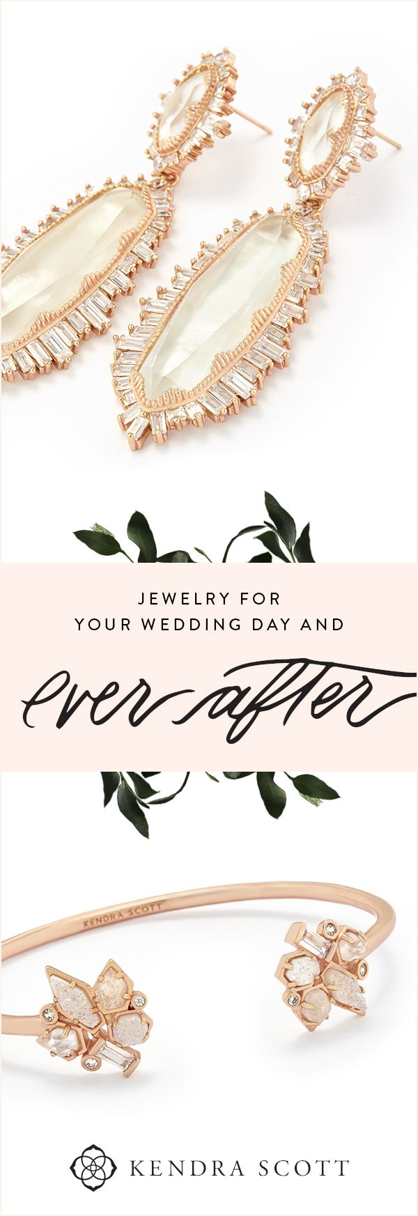 Make your wedding day look elegant and unforgettable. Jewelry for brides, bridesmaids, mothers of the bride and groom, cufflinks for him and more. Celebrate your ever after with the Kendra Scott Bridal Jewelry Collection. Shop our Weddings Collection today!