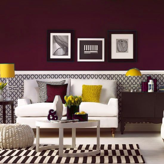 25 best ideas about burgundy room on pinterest burgundy Yellow wall living room decor
