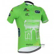 maillot Cyclisme Le Coq Sportif 2015 Tour de France Manche Courte vert