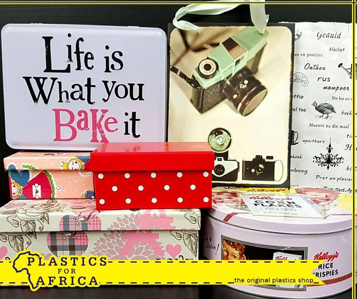 When it comes to gifts, everything's about the packaging. At #PlasticsforAfrica, we have a range of gift bags, tins and boxes in various styles and colours. #Gifts