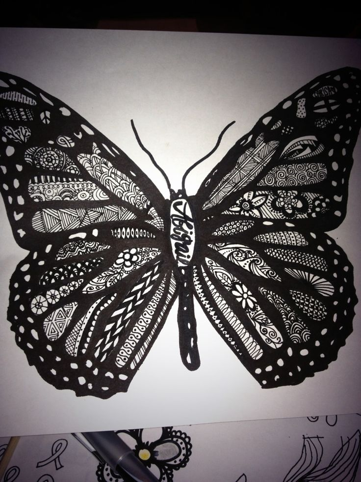 zentangle butterfly drawing pinterested pinterest butterflies a butterfly and drawings. Black Bedroom Furniture Sets. Home Design Ideas