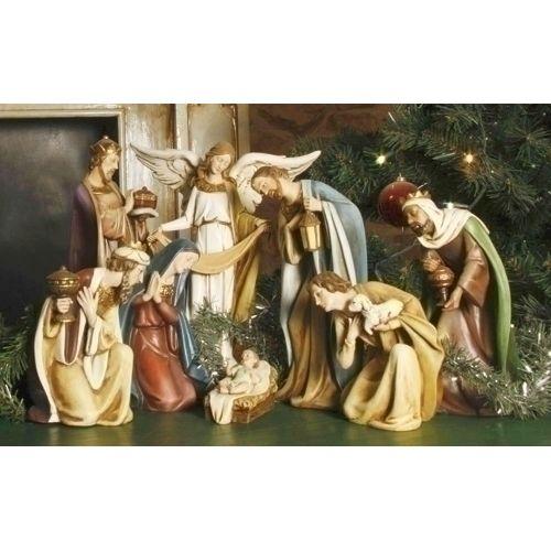 "8-Piece 12"" Ceramic Nativity Set"