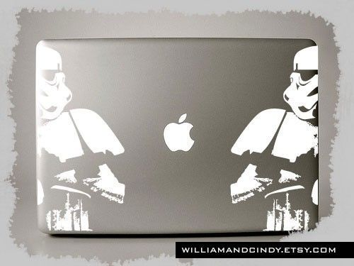 Star Wars Stormtrooper – Macbook Pro Decals, available for Retina, Air, and PC models in (11″ 13″ 15″ 17″)