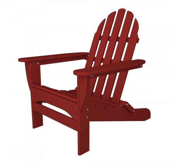 "POLYWOOD Adirondack Chair (Sunset Red) (35.75""H x 29.00""W x 35.75""D)"