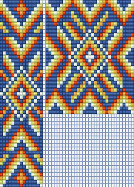 схема гердана индейский орнамент яркий гайтан бисероплетение этнический