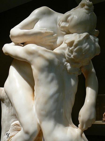 Detail - Camille Claudel | Vertumnus and Pomona - 1905. Marble, height 92 cm. Musée Rodin, Paris