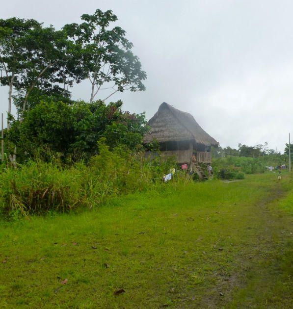 house in the Pacama village #AmazonAdventure #AtoZChallenge V:  Village on the Amazon