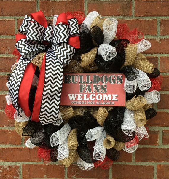 University of Georgia Wreath by marinascustomdesigns on Etsy, $59.00