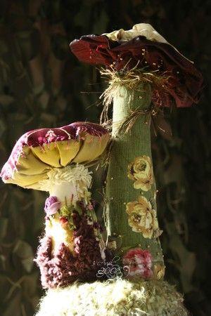 Champignons textiles