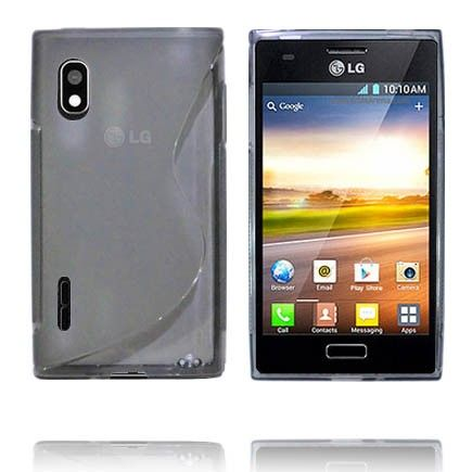 Transparent S-Line (Grå) LG Optimus L5 Deksel