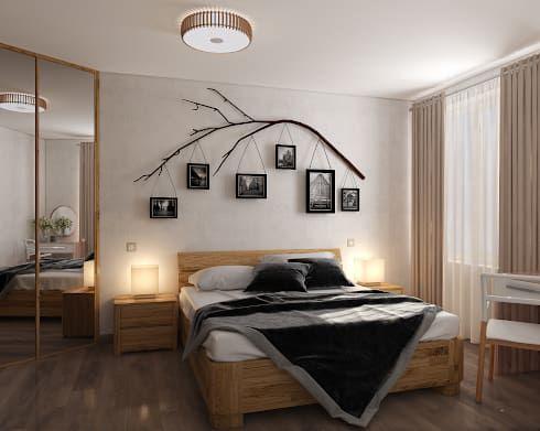 Минимализм для двоих: Спальная комната  в . Автор – «Студия 3.14»
