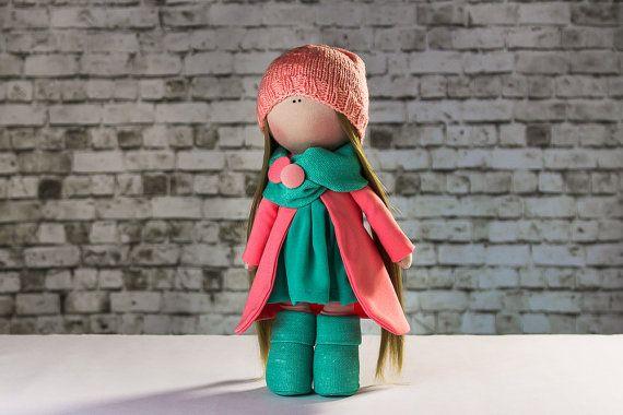 Doll Lucy. Tilda doll. Textile doll. Soft toy. Cute от OwlsUa