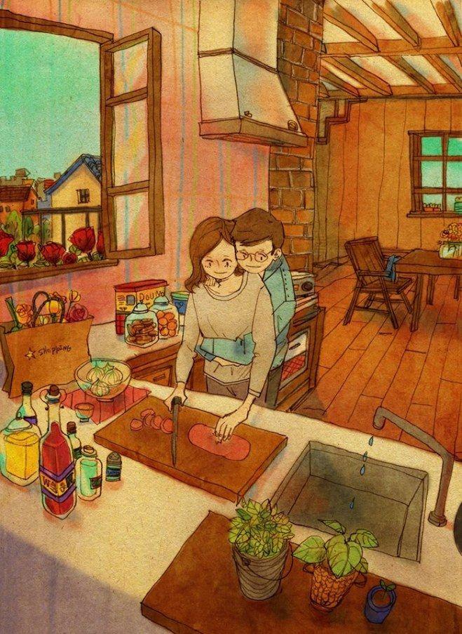 Liebe ist, wenn ihr gemeinsam kocht.