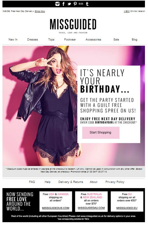 Its nearly your birthday... Triggered email #promotion #customerrelationship…