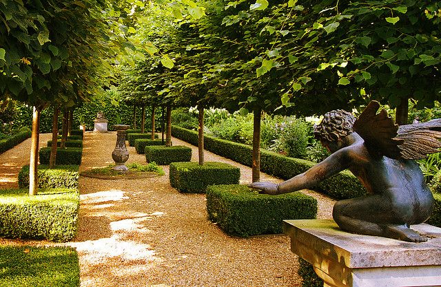 The French Garden at Kimpton House in Hampshire by Anguskirk, via Flickr