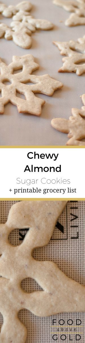 This recipe for chewy almond sugar cookies makes a cookie so soft and you'll eat them all! Plus my secret tip for flawless cut-out cookies! via @foodabovegold
