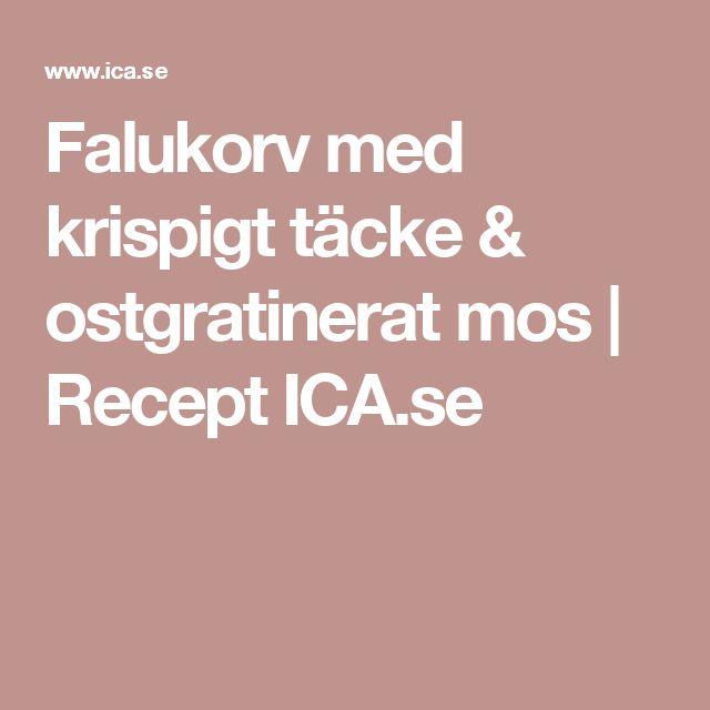 Falukorv med krispigt täcke & ostgratinerat mos | Recept ICA.se