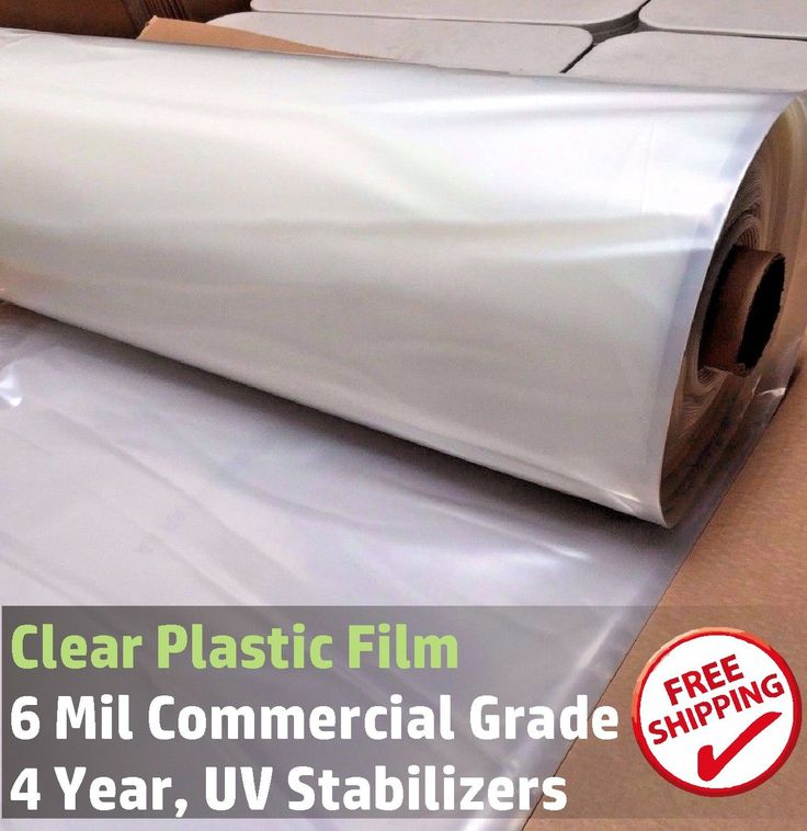Greenhouse Film Clear 6 mil, 4 year, polyethylene plastic, 24ft x 50ft