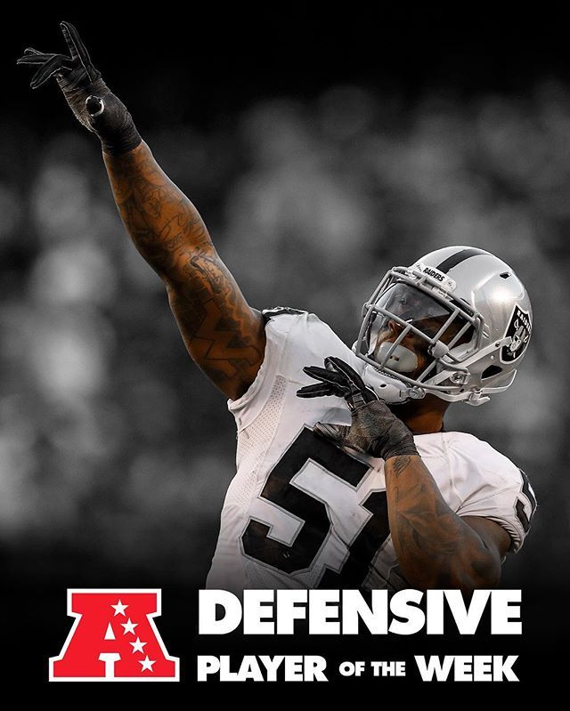 Congratulations to @bruceirvin51 on being named the AFC Defensive Player Of The Week!