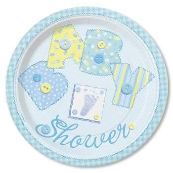 Party Time Celebrations - Stitching Blue Boy Baby Shower Paper Plates 23cm $6.95 (  sc 1 st  Pinterest & 37 best Blue Gingham Party images on Pinterest | Blue gingham ...