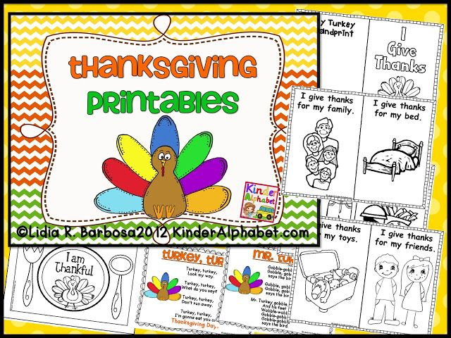FREE printable I Give Thanks book (Easy Reader)