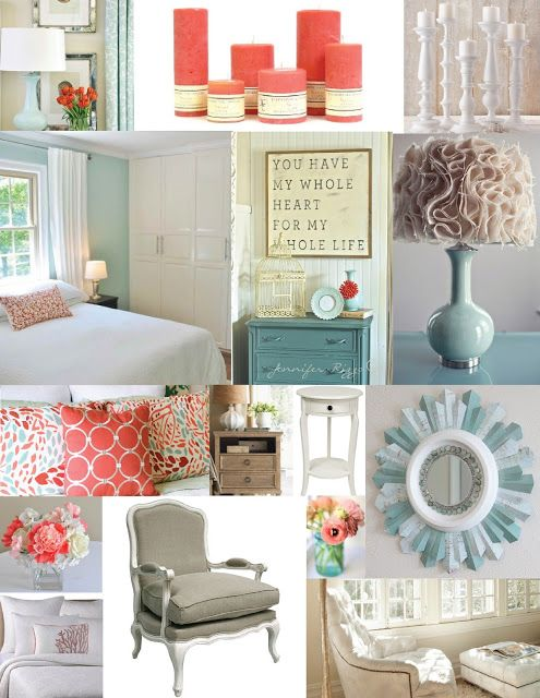 Master Bedroom Inspiration Board Blue Aqua Teal And Coral Master Bedroom Pinterest