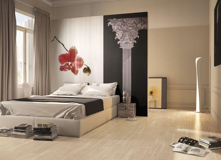 Times 6x24 porcelain tile flooring  interiordesign  tile  bedroom   floortile http. 11 best Bedrooms images on Pinterest   Feature walls  Arrows and