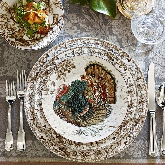 Plymouth Turkey Dinnerware Collection (Williams Sonoma 2014)