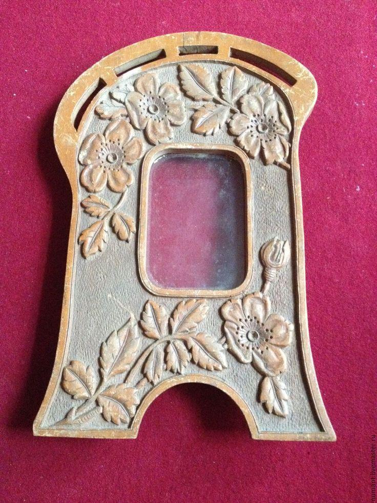 Купить Старинная деревянная резная рамка, стиль модерн - коричневый, рамка, модерн, дерево, дуб